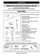 Sliding Barn Door Hardware Instruction Manual - 61240, 61241, 61242