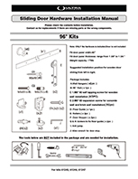 Sliding Barn Door Hardware Instruction Manual - 61245, 61246, 61247