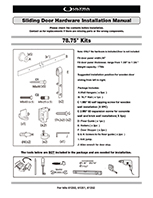 Sliding Barn Door Hardware Instruction Manual - 61250, 61251, 61252