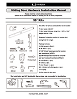 Sliding Barn Door Hardware Instruction Manual - 61255, 61256, 61257
